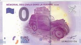 """14 - FRANCE / Billet Touristique / MEMORIAL DES CIVILS DANS LA GUERRE 2017-1 """". - Essais Privés / Non-officiels"""