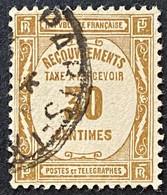 France YTYX046 - Timbres Taxe - Recouvrements Valeurs Impayées - 30 C Used Stamp 1908-1925 - FRAYX046U - Fiscaux