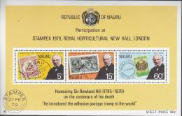 NAURU, 1979 ROWLAND HILL MINISHEET MNH - Nauru