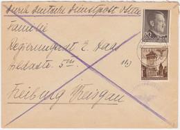 Generalgouvernement MiNr. 40 U. 77 Auf Brief Von Warschau 2 (R1170) - Ocupación 1938 – 45