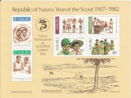 NAURU, 1982 SCOUTS MINISHEET MNH - Nauru
