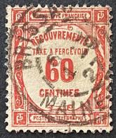 France YTYX048 - Timbres Taxe - Recouvrements Valeurs Impayées - 60 C Used Stamp 1908-1925 - FRAYX048U - Fiscaux