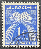France YTYX081 - Timbres Taxe - Type Gerbes - 1 F Used Stamp 1946-55 - FRAYX081U - Fiscaux