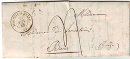 Lettre MAREUIL SUR BELLE Dordogne Taxee Pour Brive Correze , 1848 , Texte ..... - 1801-1848: Précurseurs XIX