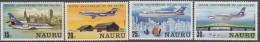 NAURU, 1980 PLANES 4 MNH - Nauru