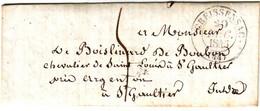 Cachet CREISSENSAC Lot Lettre Avec Texte 20 Dec 1845 , BUREAU RARE Cressensac !!!!!!!! TTB++++ Pour Indre - 1801-1848: Précurseurs XIX