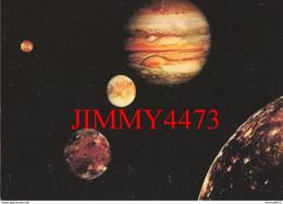 CPM - JUPITER Et Ses 4 Satellites Galiléens + Texte Au Dos - ( 1980 Voyager 1 Et 2 - NASA ) - Imp. Valblor Strasbourg - Sterrenkunde