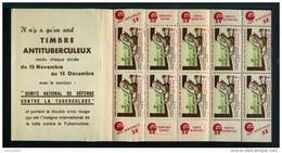 Carnet De 1950 - Tuberculose - Antituberculeux - GIBBS - Dent - Dentifrice - Docteur POIX - Bébé - Tegen Tuberculose