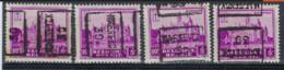Zegel Nr. 308  Voorafstempeling Nr. 5976  MAESEYCK 1930 In De 4 Posities , A  B  C  En D ; Staat Zie Scan ! - Roulettes 1930-..