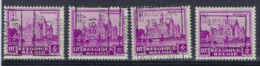 Nr. 308 Kasteel Bornem Voorafstempeling Nr. 5978 A B C En D  MARCHIENNE 1930 AU - PONT  ; Staat Zie Scan ! - Roulettes 1930-..