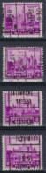 Zegel Nr. 308  Voorafstempeling Nr. 5970 A + B + C + D   LA LOUVIERE 1930    ; Staat Zie Scan ! - Roulettes 1930-..