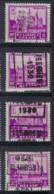 Zegel Nr. 308  Voorafstempeling Nr. 5966 ISEGHEM 1930 In De 4 Posities , A  B  C  En D ; Staat Zie Scan ! - Roulettes 1930-..