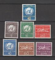 Suisse - Sce De L'année 1955 - YT N° 362 à 368 Neufs** (cote 20 Euros) - Officials