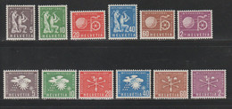 Suisse - Sce De L'année 1956 - YT N° 369 à 380 Neufs** (cote 17 Euros) - Officials