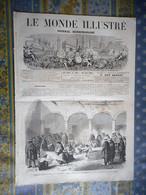 LE MONDE ILLUSTRE 10/08/1867 MEXIQUE COMBAT DE COQ PARRAL EXPOSITION UNIVERSELLE PHARE LE HAVRE CHERBOURG NORVEGE CERF - 1850 - 1899