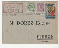 Lettre Avec Vignette De L'Exposition De Fourmies / Nord Et Café Brésilia, 1930 - Sonstige