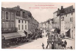 Saint-Girons - Grande-Rue Villefranche - Diligence - édit. Labouche Frères 890 + Verso - Saint Girons