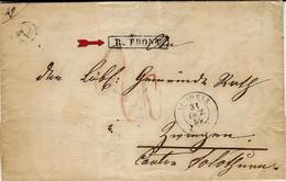 1859-lettre De ST LOUIS ( Haut RHIN ) Cad T15 + Q Boite Rurale De Leymen Pour Un Village Suisse Avec R. FRONT. Encadré - 1849-1876: Classic Period