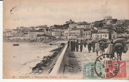 Carte Maroc / Tanger Avec Timbres Types Blanc Et Mouchon Surchargés, 1919 - Lettres & Documents
