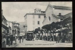 Ventimiglia Via Cavour E Plazza Del Mercato Tramway Gallo Animato - Other Cities