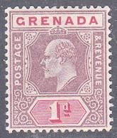 GRENADA   SCOTT NO  49   MINT HINGED     YEAR  1902    WMK 2 - Grenada (...-1974)