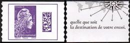 France Autoadhésif N° 1656 C ** Datamatrix. Marianne L'Engagée International De Carnet, Philaposte - Autoadesivi