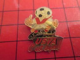 713J Pin's Pins / Rare Et De Belle Qualité /  THEME SPORTS : FOOTBALL USVA VALENCIENNES ANZIN - Calcio