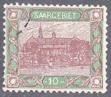 SAAR    SCOTT NO  82   USED     YEAR  1921 - Used Stamps