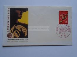 AV653.11 Japan FDC  International Rice Year   1966 - Lettres & Documents