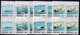 NAURU, 1984 LLOYDS LIST 4  BLOCKS 4 MNH - Nauru