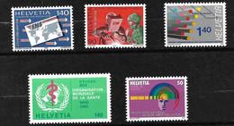Suisse Service   N° 463 à 467   Neufs * *  TB = MNH VF  Voir Scans Soldé Au Prix De  La Poste En 1990  ! ! - Officials