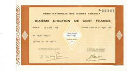 DIXIÈME D'ACTION RENAULT DE 1972 - Auto's