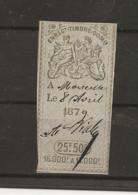 FISCAUX EFFET N°235   22F50  TYPE GROUPE ALLEGORIQUE D'OUDINE 1874/77 - Fiscaux