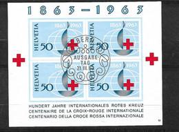 Suisse Bloc    N° 19 Cachet FDC Premier Jour Bern  Le 21/03/1963  Oblitéré B/ TB    Voir Scans   Soldé   ! ! ! - Blocks & Sheetlets & Panes