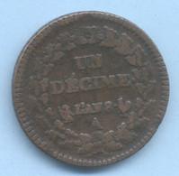 UN DECIME DUPRE  AN 8  A - 1789-1795 Franz. Revolution