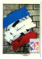 """Thème Général De Gaulle - CP N° 14 - Série """"De Gaulle Sur Les Murs De France"""" - Timbrée - Y 560 - Uomini Politici E Militari"""