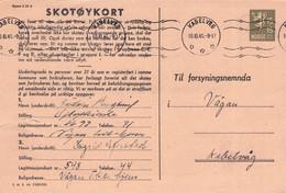 NORWAY - SKOTÖYKORT 1945 15 ÖRE /G197 - Enteros Postales