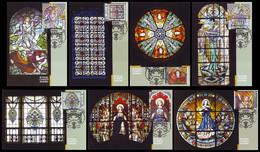 UKRAINE 2020. STAINED-GLASS WINDOWS OF OLD LVIV. Hologram. MAXICARDS - CARTES MAXIMUM Mi-Nr. 1938-44 - Ucrania