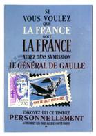 """Thème Général De Gaulle - CP N° 48 - Série """"De Gaulle Sur Les Murs De France"""" - Timbrée - Salut Public - Y 577 - Uomini Politici E Militari"""