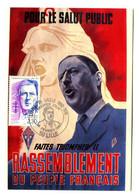 """Thème Général De Gaulle - CP N° 49 - Série """"De Gaulle Sur Les Murs De France"""" - Timbrée - RPF - Y 578 - Uomini Politici E Militari"""