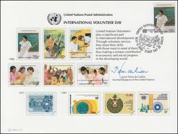 UNO Erinnerungskarte EK 33 Entwicklungshelfer 1988, NY-FDC 6.5.1988 - Non Classés