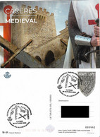 SPAIN. POSTAL STATIONERY FIRST DAY. MEDIEVAL CACERES. 2020 - Unclassified