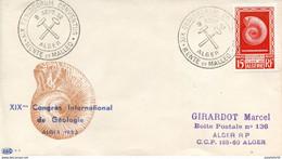 """Algérie/France; FDC 1952 """"  XIXème Congrès De Géologie, Alger - Lettres & Documents"""