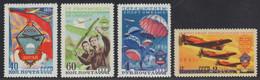 Russia / Sowjetunion 1951 - Mi-Nr. 1593-1596 ** - MNH - Flugsport (I) - Unused Stamps