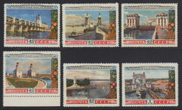 Russia / Sowjetunion 1953 - Mi-Nr. 1669-1674 ** - MNH - Wolga-Don Kanal (I) - Unused Stamps