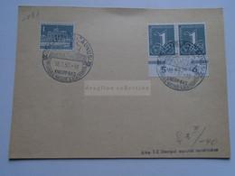 AV668.4   Sonderstempel  Bad Camberg 1957 - Lettres & Documents