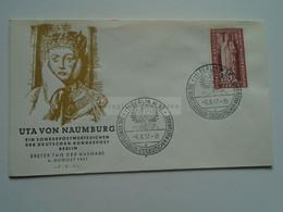 AV668.6  Germany    BRD  FDC  1957  BERLIN W30  -  Uta Von Naumburg  Prinzessin - Lettres & Documents