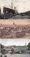 2389236Rotterdam, Koningsbrug 1906 – Panorama 1914 - ,,Holland Amerika Lijn'' Wilhelminakade 1913 (3 Kaarten) - Rotterdam