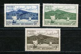 COMORES - VUES -  N° Yt  1+2+3 (*) - Neufs