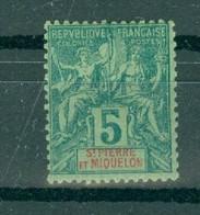 ST-PIERRE ET MIQUELON - N° 62* MH Trace De Charnière Scan Recto Verso. - Used Stamps